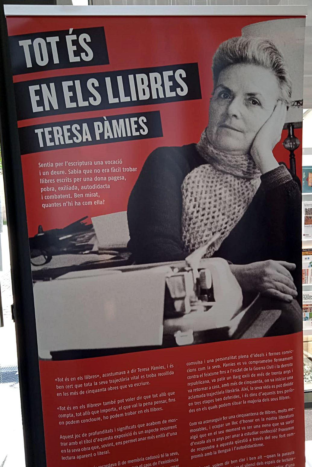 """""""Tot és en els llibres"""" Homenatge a Teresa Pàmies"""