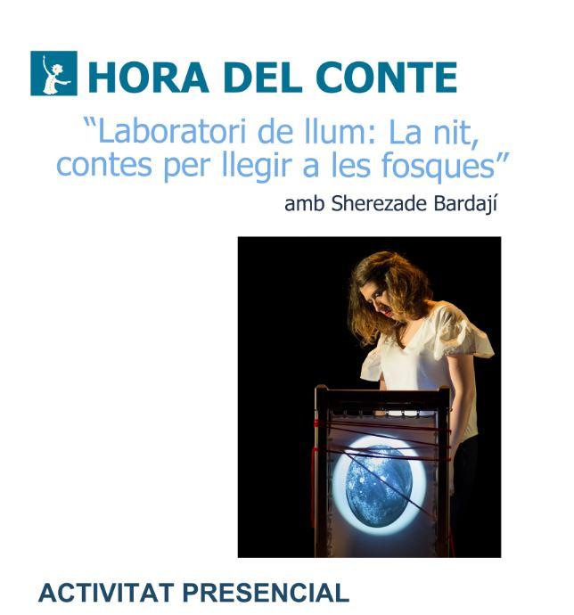 """""""Laboratori de llum: La nit, contes per llegir a les fosques"""" amb Sherezade Bardají"""