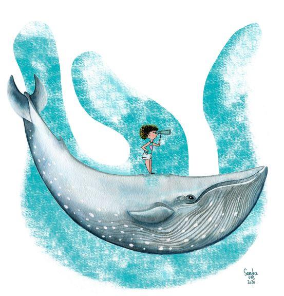 """Taller d'aquarel·la """"Salvem els oceans"""" a càrrec de Sandra Uve"""